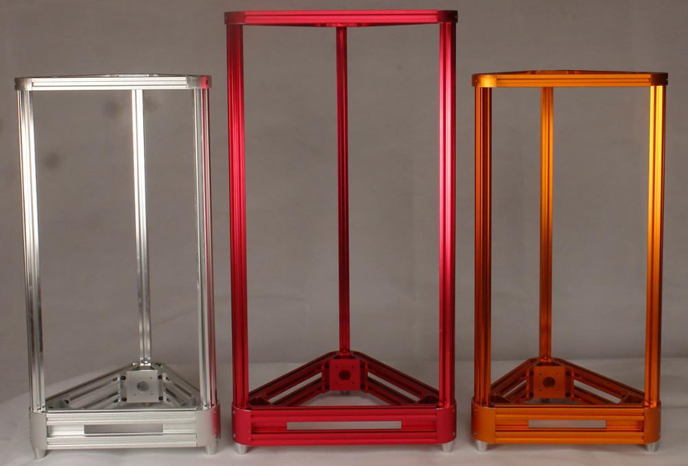 metal Kossel 3D printer frame DIY kit (aluminum alloy) 180mm/220mm printing size silver/black/red/golden/blue color available zonestar newest full metal aluminum frame big size 300mm x 300mm auto level laser engraving run out decect 3d printer diy kit