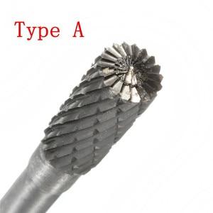 Image 5 - סוג C D F G 6*8MM ראש טונגסטן קרביד רוטרי כלי נקודת בר למות מטחנות שוחק כלים תרגיל כרסום גילוף קצת כלים