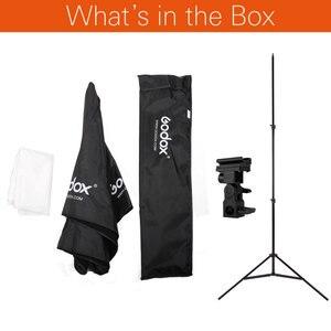 Image 2 - Godox 31.5in 80 cm Octagon Regenschirm Softbox 200 cm Licht stehen Regenschirm Heißer Schuh Halterung Kit für Speedlite Flash