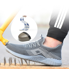 Men's steel nose safety work shoes anti-smashing anti-piercing site light non-slip summer breathable deodorant steel toe shoes