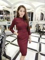 New Women dress Stretch Fiber Feeding Match Chatelaine Version Is Veryautiful Dresses Gray Wine Red Apricot 3664