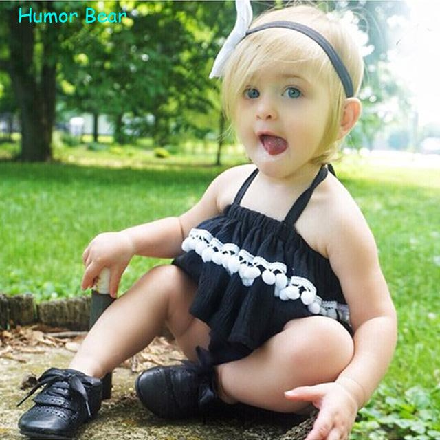 Humor Oso ropa niñas bebés establece niños ropa de bebé ropa de las muchachas 2016 Del Estilo Del Verano Ropa Infantil Ropa de Bebé Establece
