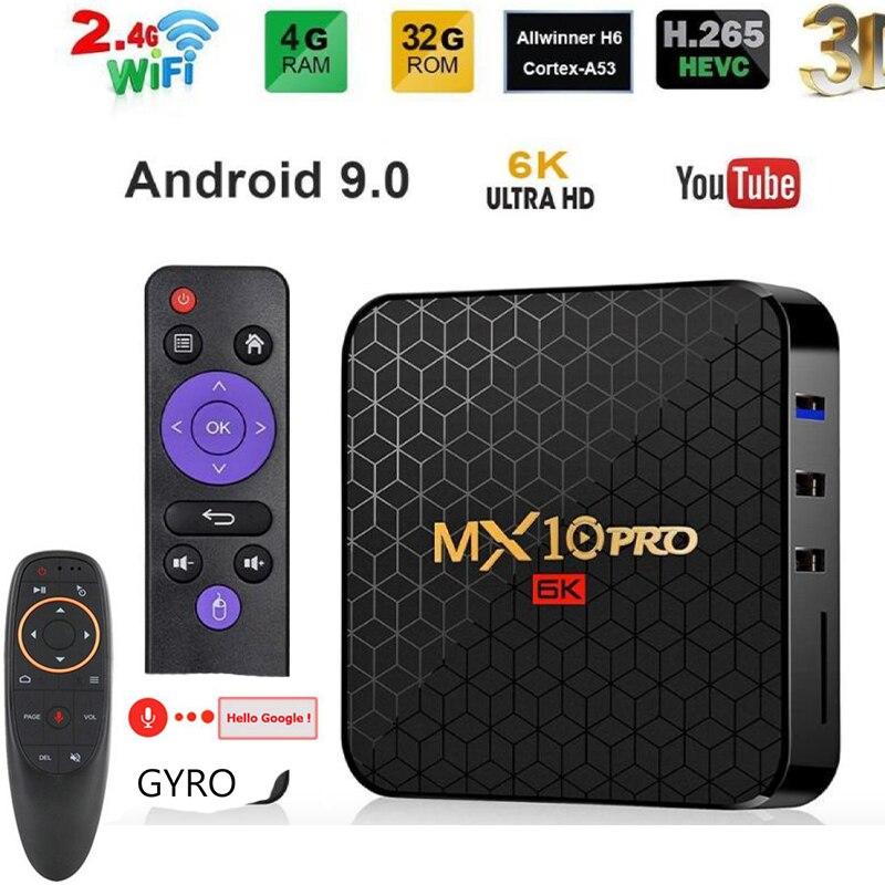 MX10 Pro 6k tv box Android 9 0 Allwinner H6 Quad Core 4GB 32GB 64GB 2