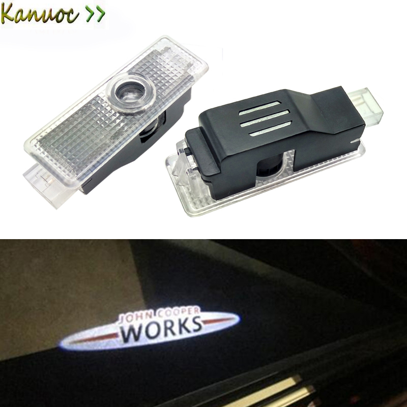 2x LED Car Door Logo Light Courtesy Laser Projector Lamp For Mini Cooper R53 R55 R56 R57 R58 R59 R50 R60 Clubman F55 F56 R52