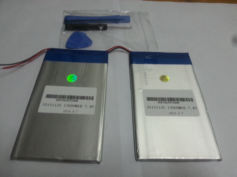 7.4V 13000mAh Tablets Batteries DIY U30GT, U30GT1, U30GT2 Dual Four-core Tablet Pc Battery 33161125 Size:3.5 * 151 * 125 Mm