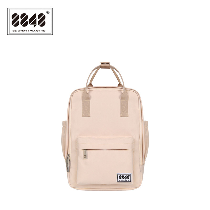 8848 Brand  Backpack For Women Schoolbags For College Student Waterproof Oxford Fashion Light Pink Solid  Knapsack 003-008-001 2017 fashion women waterproof oxford backpack famous designers brand shoulder bag leisure backpack for girl and college student