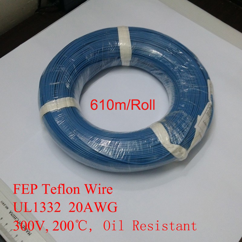 UL1332 20AWG 0.54mm2 Teflon Electrical Wire, 300V Copper Cable ...