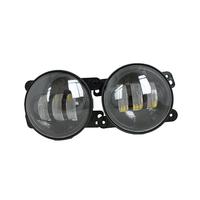 2PCS 4 Inch Turn Signal Light 30W Round LED Passing Fog Lights LED Fog Projector Car Light with RED Halo Angel Ring Wrangler
