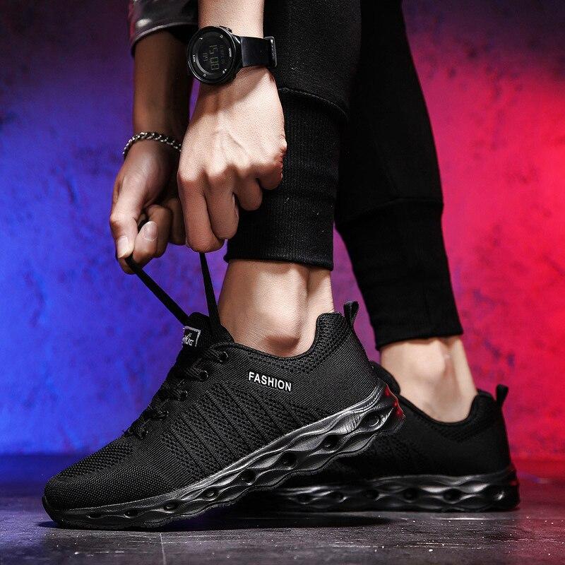Étudiants Mesh Absorption Respirant Chaussures Printemps Gray Des Course Sport black Hommes Chocs Jeunes De blue qRwRTZH