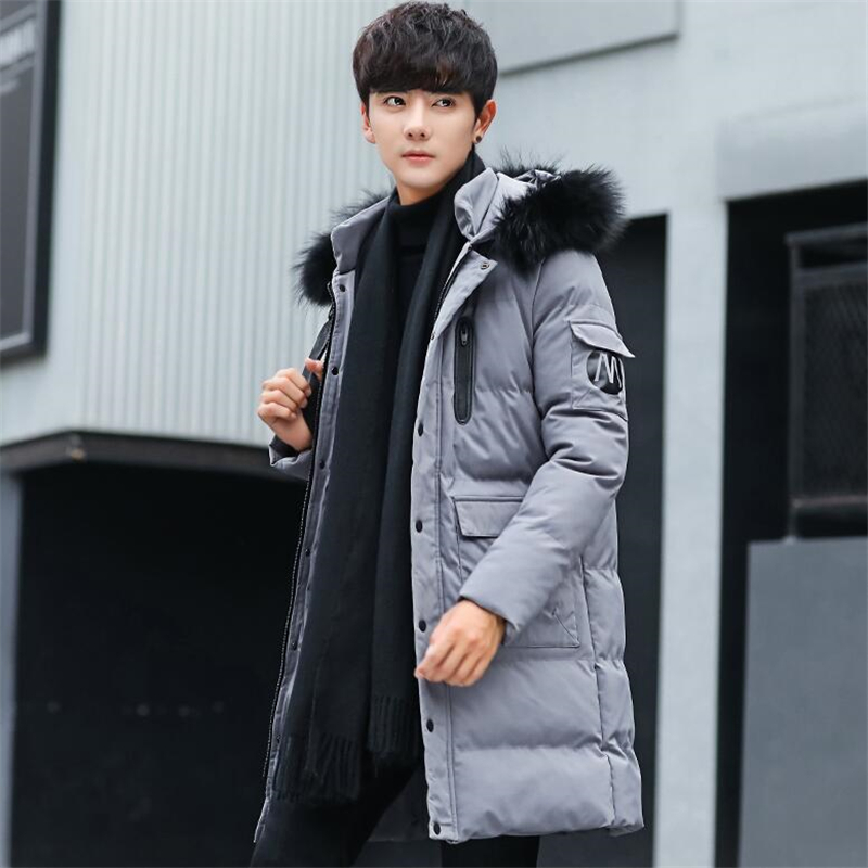 Jacket Men 2018 Winter Thick Cotton Hooded Sweatercoat Fur Jackets Male Loose Padded Casual Male Coats Zipper Plus Size