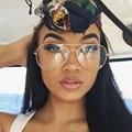JUSTRUE Классический Авиатор Очки Высокое качество Прозрачные Линзы Очки Женщины Мужчины Оптический очки Негабаритных Кадров