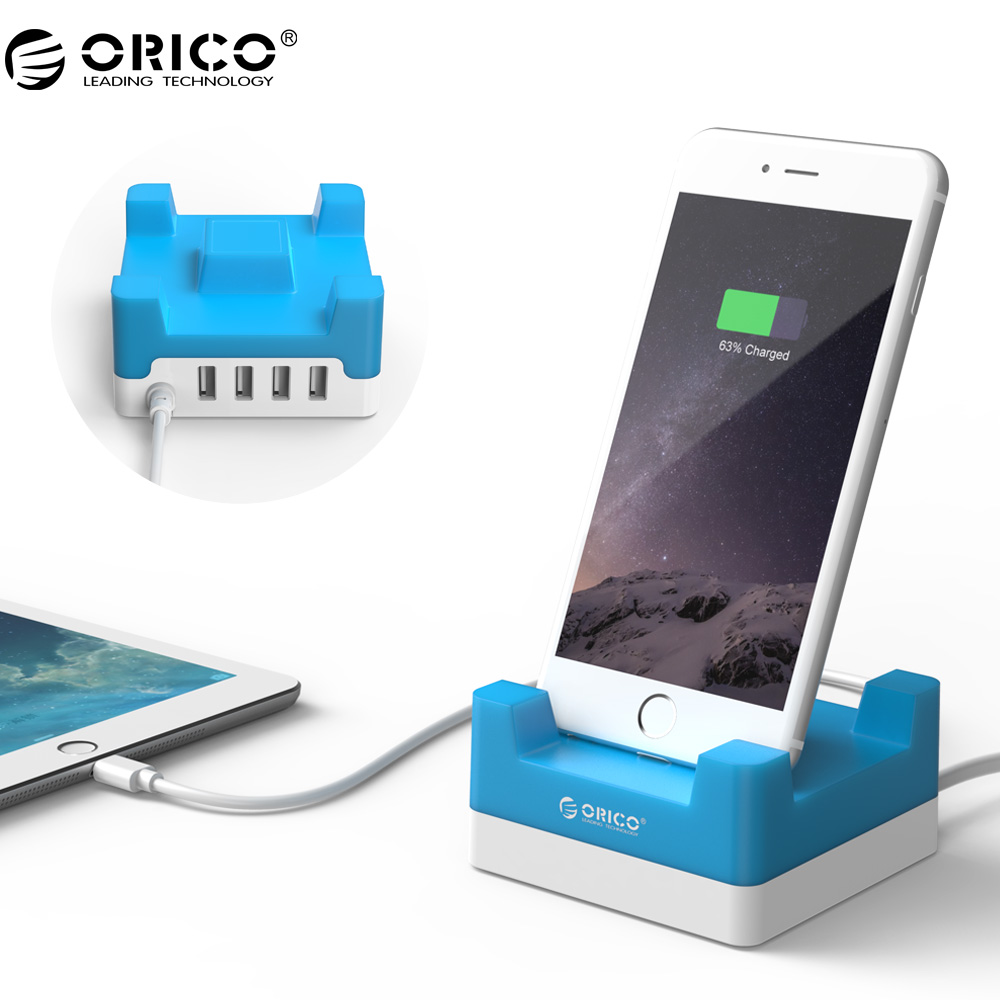 ORICO CHA USB Charger Phone Stand Holder 4 Port Desktop USB Charger with Phone / Tablet Mount/iphone 7