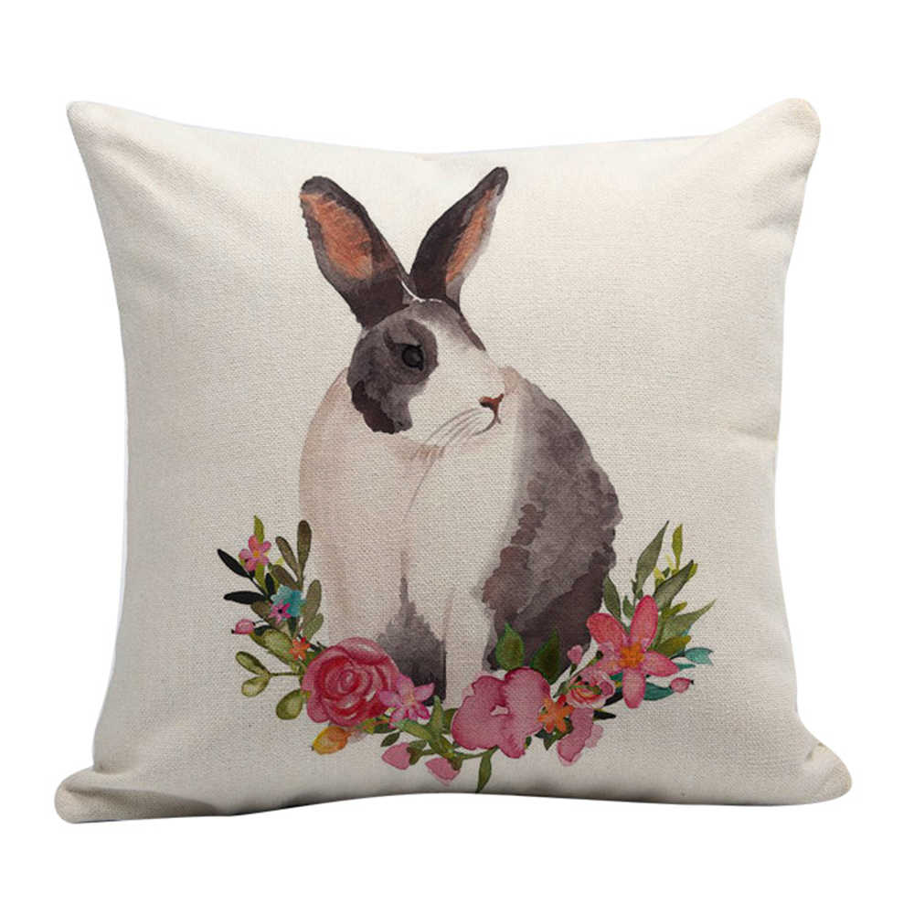 Easter Sofa Bed Home Decoration Geometric Festival Pillow Case Cushion Cover Home Decor Pillow Cover linen Cushion Case Kids