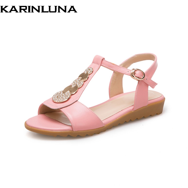 KarinLuna 2018 ženski čevlji vrhunske kakovosti Usnjeni čevlji - Ženski čevlji