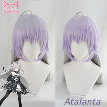 【AniHut】Alter Atalanta Fate Grand Order 코스프레 가발 합성 혼합 색상 여성 헤어 FGO 코스프레 할로윈 의상 머리카락