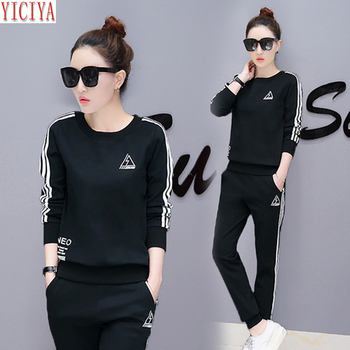 YICIYA black tracksuits two piece sets women outfits co-ord set plus size large winter autumn pant suits and top casual clothes orange plus size 2 piece set women pant and top outfit tracksuit sportswear fitness co ord set 2019 summer large big clothing