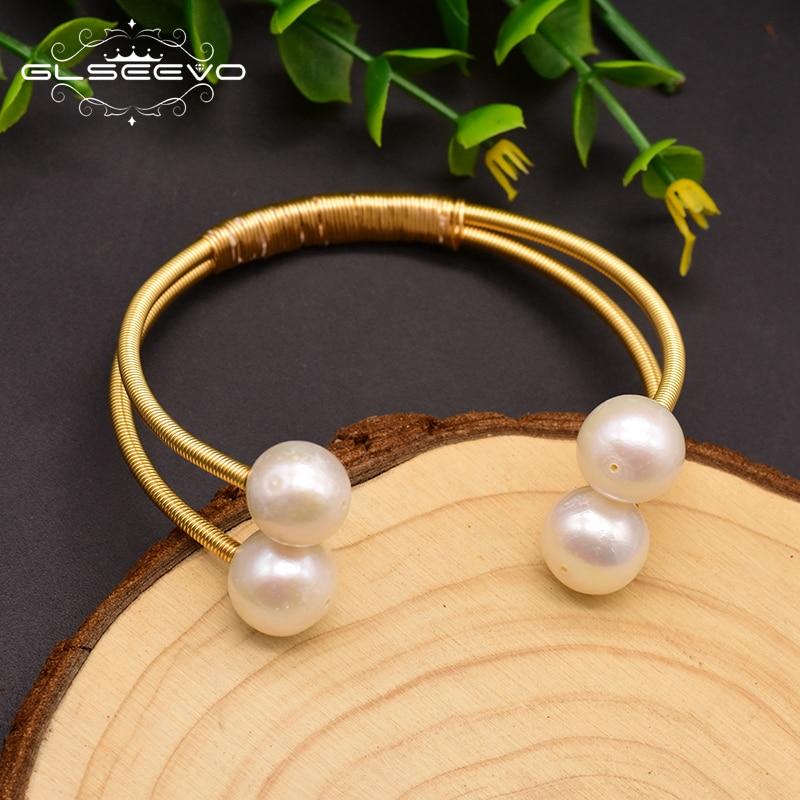 Купить женский жемчужный браслет glseevo двухслойный с натуральным