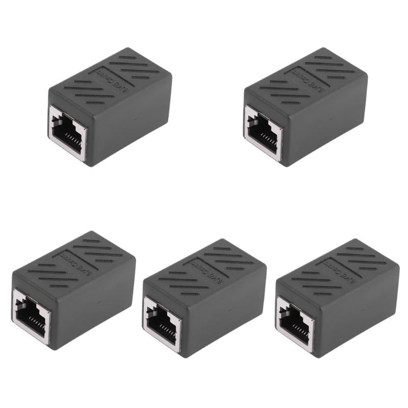 5Pcs RJ45 Inline Coupler Extender Female to Female Cat7 Cat6 Cat5e Ethernet LAN Network Cable Wire Adapter Converter Connector vga extender female male to lan cat5 cat5e 6 rj45 ethernet female adapter male to female vga to rj45 converter connector