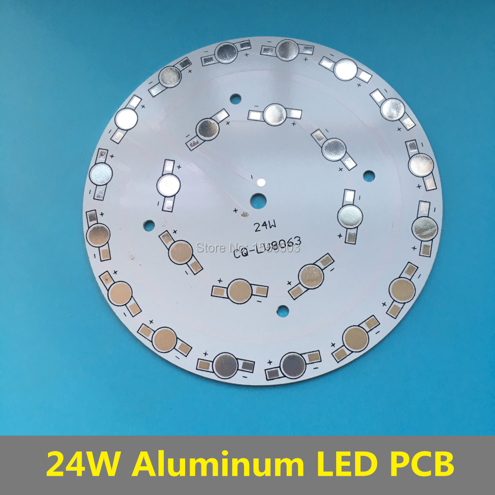 24W LED High Power PCB Lumen empty Board 118mm Aluminum Heatsink Round Radiator Base for LED Buld Down Ceiling Grow Lamp