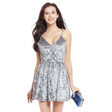 Dresses Women 2019 Big swing deep v-neck sexy western sexy swan silk velvet  dress 5d4319e64237