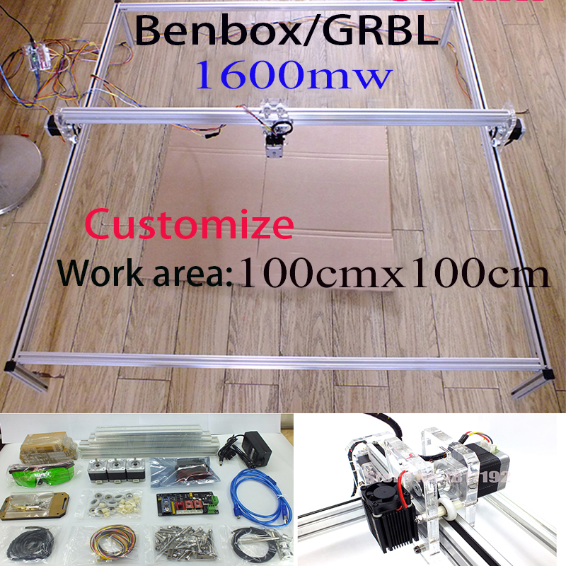 1.6W laser,DHL ship 100*100cm,1600MW big DIY laser engraving machine,diy marking machine,diy laser engrave machine,advanced toys 1600mw diy laser engraving machine 1 6w diy marking machine diy laser engrave machine advanced toys