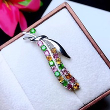 Beautiful tie knot Natural tourmaline brooch, beautiful