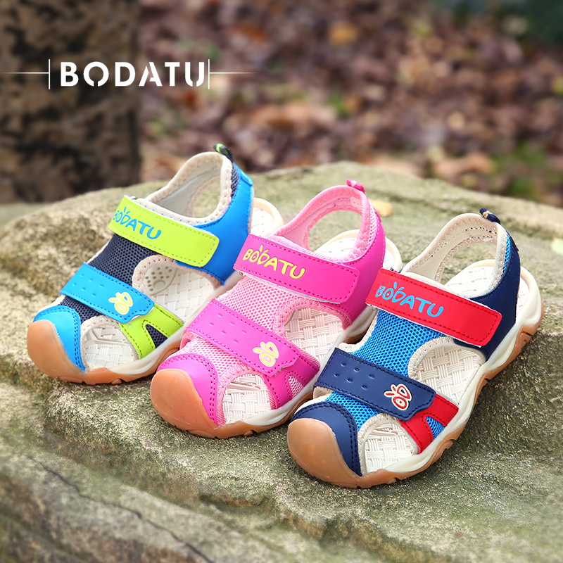 BODATU Sandals For Kids Girls Student Beach Flat With Children Ankle-wrap Comfortable Fashionable Kids sandals Du1585