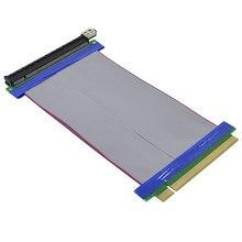 Chipal adaptador de cartão pci-e riser, cabo de extensão pci express 16x para 16x extensor de fita flexível para bitcoin litecoin, 19cm miner miner