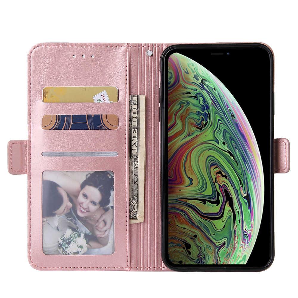 Voor Iphone 6 6S 7 8 Plus X Xr Xs Max Portemonnee Lederen Case Mode Rits Flip Stand Voor iphone 11Pro Max Cover Mobiele Telefoon Bag