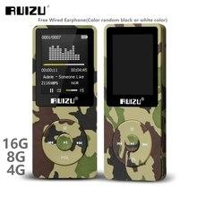 RUIZU X02 Ультратонкий MP3 плеер Usb 4 ГБ 8 ГБ 16 ГБ для хранения 1,8 дюймов экран воспроизведение 80h Высокое качество радио Fm Электронная книга музыкальный плеер