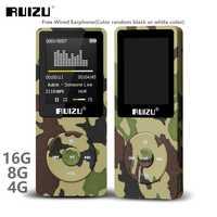 RUIZU X02 Ultradünne Mp3 Player Usb 4GB 8Gb 16GB Speicher 1,8 Zoll Bildschirm Spielen 80h Hohe Qualität radio Fm E-buch Musik Player