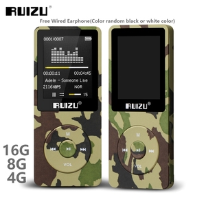 Image 1 - RUIZU X02 Ultrathin Mp3 Player Usb 4GB 8Gb 16GB Storage 1.8 Inch Screen Play 80h High Quality  Radio Fm E Book Music Player