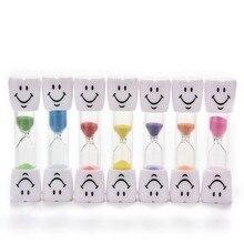Новая мода Дети Образование улыбающееся лицо игрушка песочные часы Мини Песочные часы Игрушка таймер 2-3 минуты
