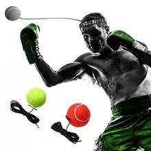 Boxing Punch Øvelse Kamp Kuglehænder Øje Koordinering Med Head Band Til Reflex Speed Training Tools