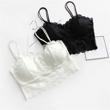 1PC Sexy Women Lace Tops V-Neck Lace Floral Hollow Camisole Vest Bra Blouses Tank Tops Crop Top Cropderwear 2018 New