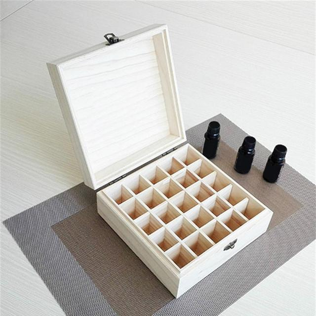 Solid Wood 25 Slot Essential Oil Storage Box 3