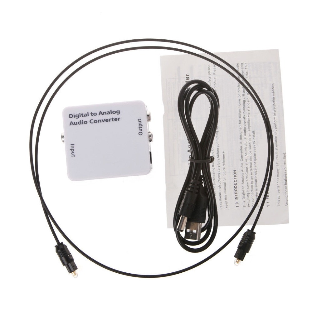 TV Optical Digital SPDIF/Coaxial to RCA L/R Headphone Analog Audio Converter  Out-in Converters from Computer & Office on Aliexpress.com   Alibaba Group