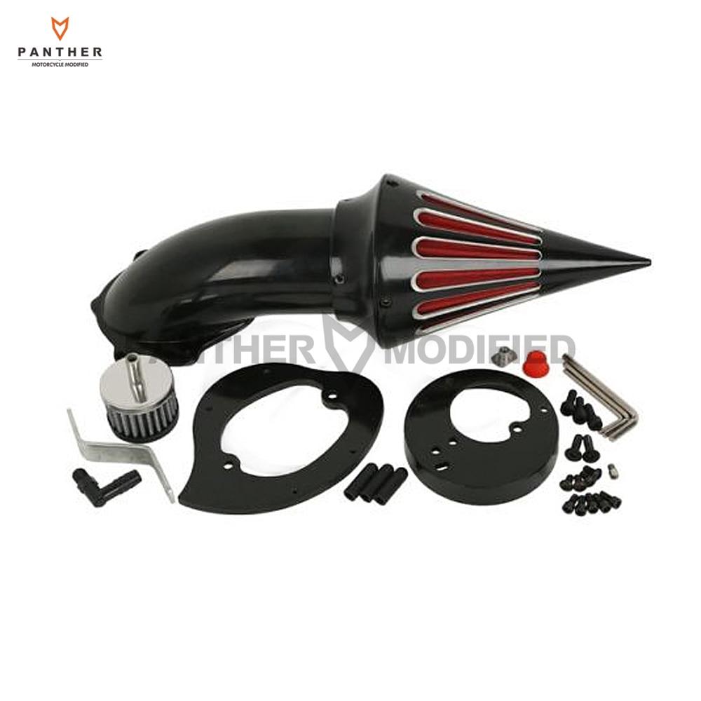 Black Edge Cut Motorcycle Air Cleaner Kit Intake Filter case for Honda VTX 1300 VTX1300 1986-2012 2006 2007 2008 2009 2010 2011