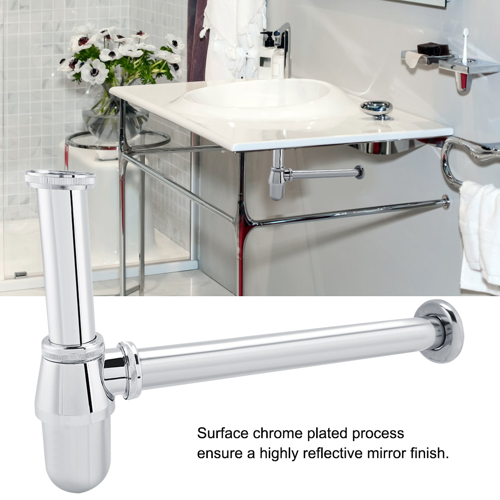G1 1 4 Inch Chromed Zinc Alloy Sink Basin Tube Round Bottle Trap For Bathroom Kitchen Waste Drain Kitchen Sink Trap Pipe Pipes Aliexpress