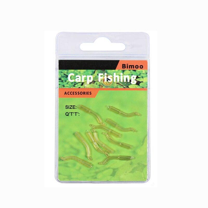30pcs Carp Fishing Hook Sleeves Aligner Hook Hair Rig Sleeve End Tackle Swivel Q