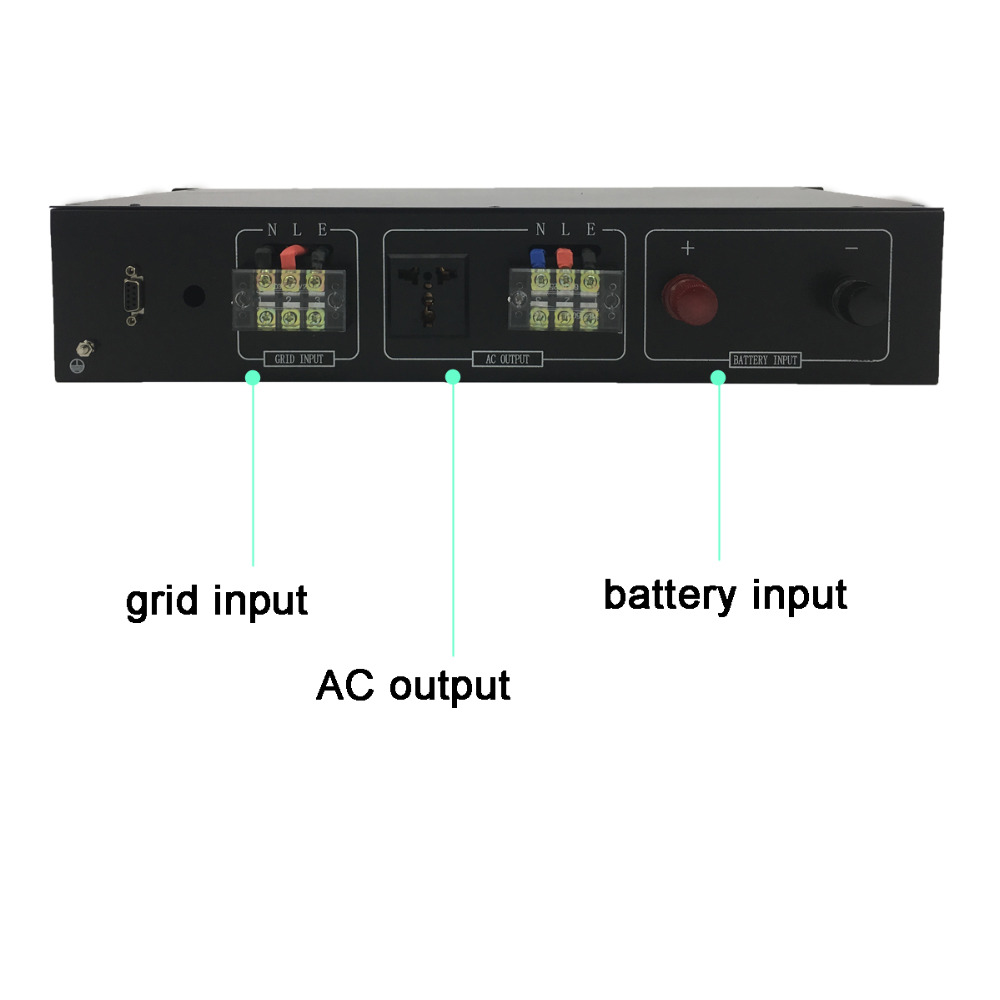 "Image 3 - 19"" Rack Mount Telecom Pure Sine Wave Inverters 3000VA/3KVA 12V/24V/48V to 120V/220V bypass-in Inverters & Converters from Home Improvement"