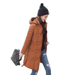 Winter Jacket Female Parka Coat Plus size 4XL Fashion Down Jacket Long Hoodie Down Thick Long Coat Jacket Women Clothing 2