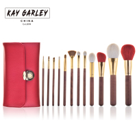 KAY GARLEY Make Up Brushes 12pcs Brush Set Professional Goat Hair Brushes Beauty Essentials Makeup Brush With Bag Top Quality