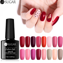 UR SUGAR 7.5ml Pure Nail Color Gel Polish Red Gray Gel Varnish Soak Off UV Gel Lacquer Base Coat No Wipe Top Coat Gel Polish комплект мебели для ванной для ванной san star вита 80 подвесной белый
