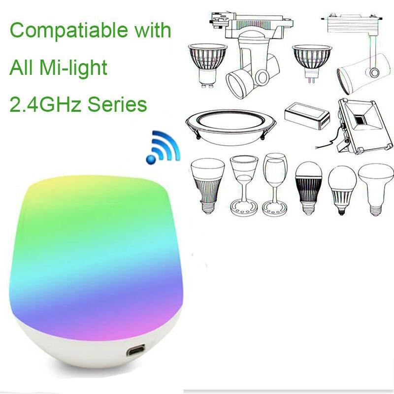 Miライト2.4グラムワイヤレスwifi ledストリップライト電球rgbカラー小さなリモートコントローラ用ナイトライトランプ