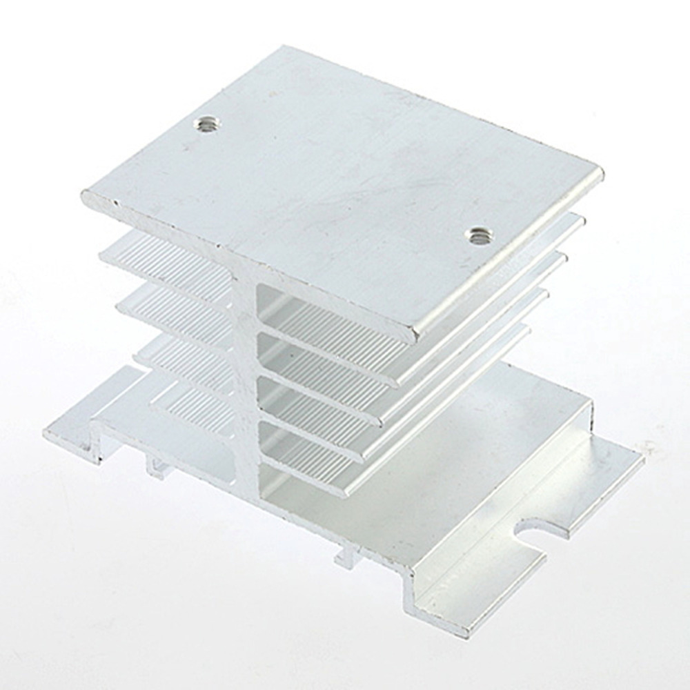 цена на New Aluminum Heat Sink For Solid State Relay SSR Small Type Heat Dissipation Brand New Hot Selling