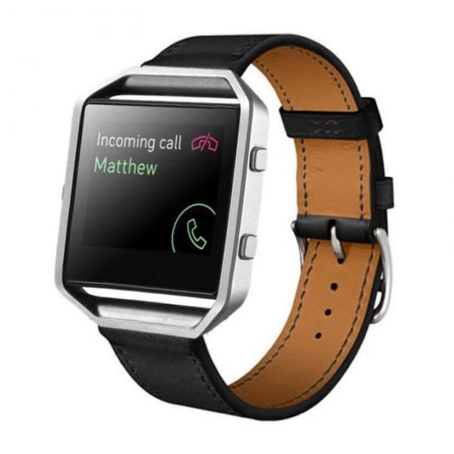 FOHUAS Luxury Genuine Leather Watch band Wrist strap For Fitbit Blaze Smart Watch Band Bracelet not Including metal frame