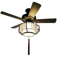 22%  çin 42 inç antik ışıklı tavan fanı ahşap yaprak sessiz fan ışık şeffaf ışık kapağı fan ışık