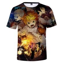 Anime T-shirt The Promised Yakusoku no Neverland Emma Ray Norman Cosplay Short Sleeve Women Men Black Tee Tops Casual Summer