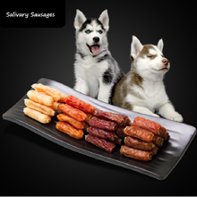 Dog Snacks 4 Flavors Salivary Sausage fresh Ham Beef Mutton Chicken Venison Training Rewards Cleaning Teeth food